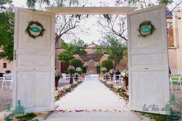 Puertas de paso para bodas muebles nicos para un d a nico for Decoracion puertas vintage