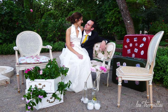 alquiler de muebles recuperados para bodas y eventos en
