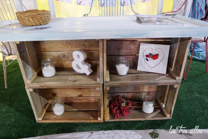 Alquiler de muebles para el candy bar o mesa de dulces de for Muebles para bodegas rusticas