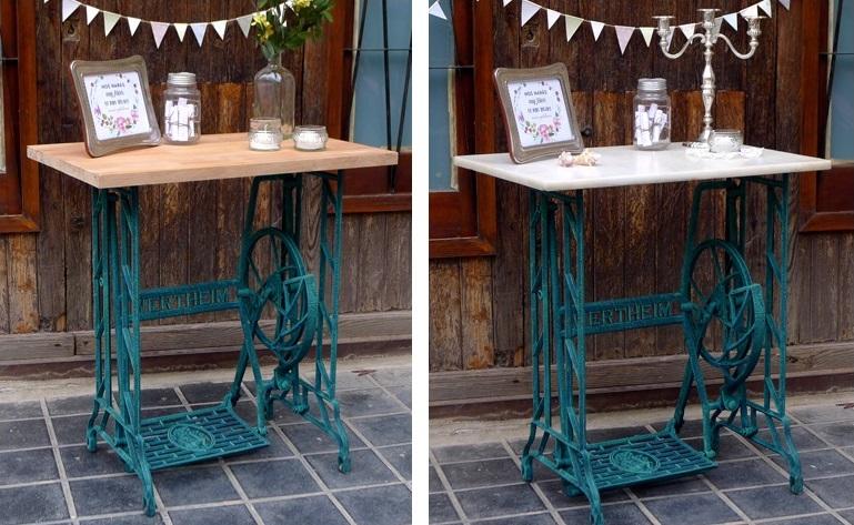 10 ideas de reciclaje de muebles con antiguas m quinas de for Como reciclar una mesa de televisor antigua
