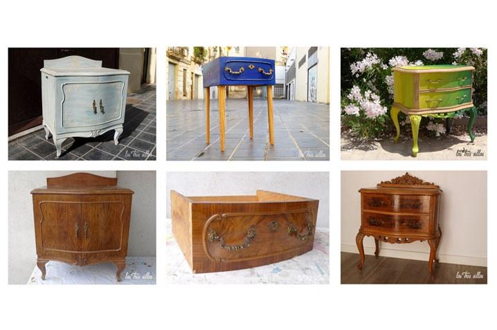 Reciclaje de muebles el antes y despu s de las mesitas de for Reciclaje de muebles antiguos