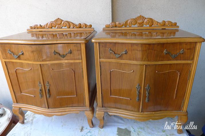 Reciclaje de muebles el antes y despu s de las mesitas de - Mesitas de noche clasicas ...