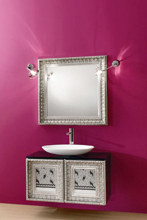 Classic style washbasin cabinet / with mirror